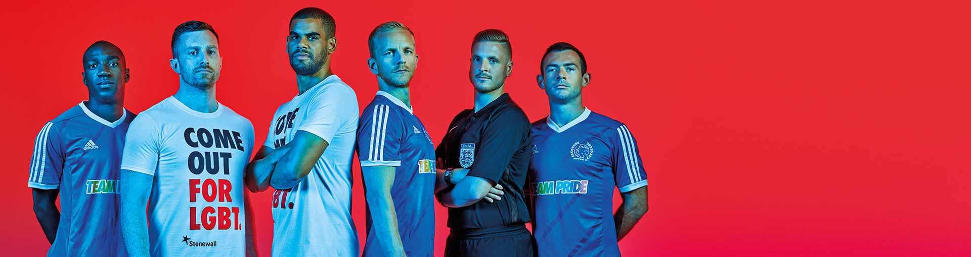 Come Out For LGBT - Stonewall FC footballers, Ryan Atkin, Ian Kehoe