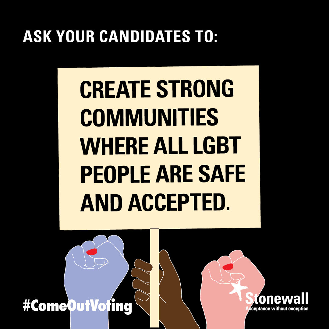 Create strong communities where LGBT people are safe and accepted