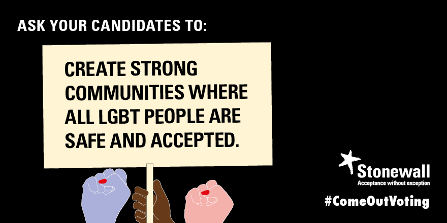Create strong communities where all LGBT people are safe and accepted