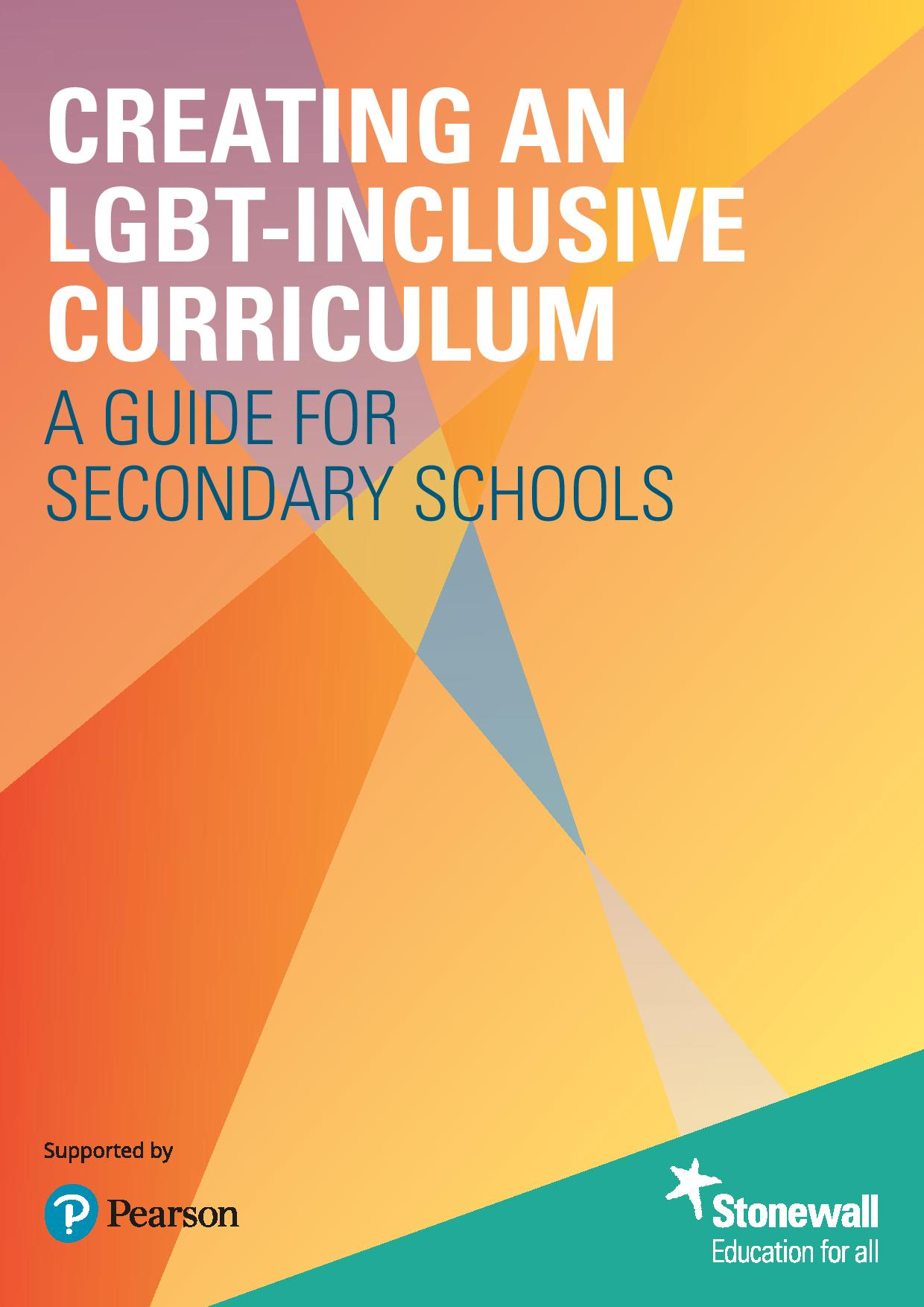 stonewall inclusive curriculum guide