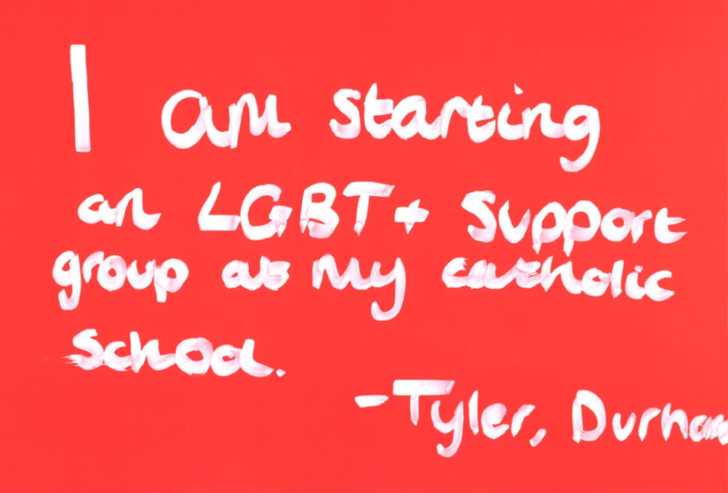 'I am starting an LGBT+ support group at my Catholic school' - Tyler, Durham