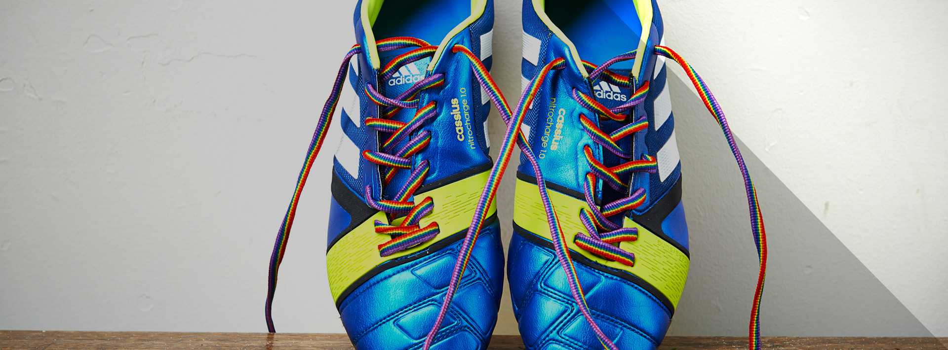 Football boots with Rainbow Laces