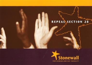 Repeal Section 28 - original Stonewall campaign poster