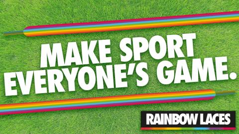 Temporary Rainbow Laces Trainers