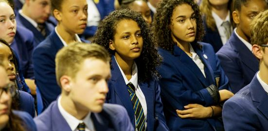 Pupils in assembly
