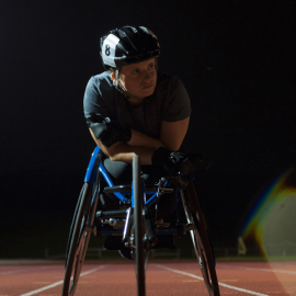 Person in a racing chair