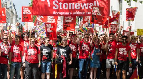Stonewall at London Pride