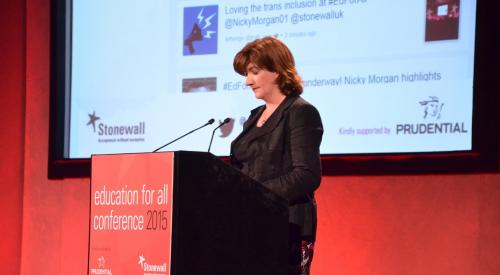 MP Nicky Morgan at Education for All Conference 2015