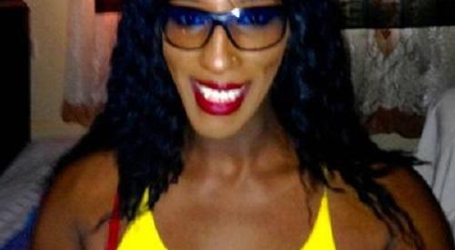 Dildo locked in chastity belt
