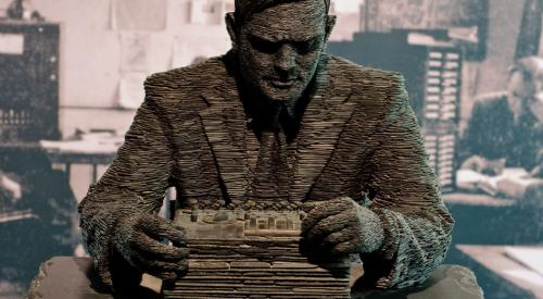 Alan Turing statue at Bletchley Park