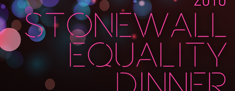 Stonewall Equality Dinner 2016 (logo)