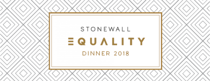 Stonewall Equality Dinner 2018 Banner