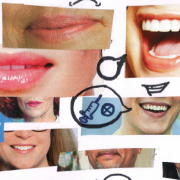 Mouths with speech bubbles coming out of them