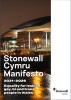 Image reading 'Stonewall Cymru Manifesto 2021-2026'