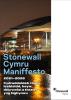 Image reading 'Stonewall Cymru Maniffesto 2021-2026'