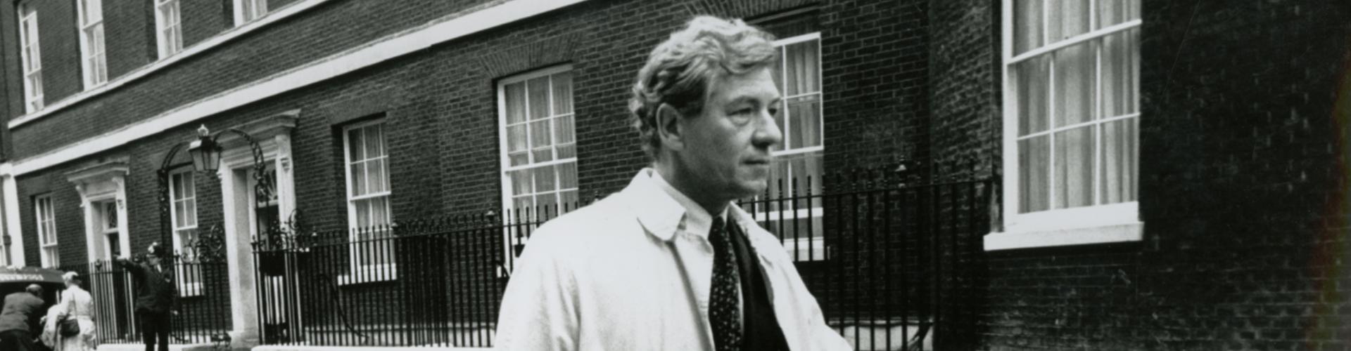 Ian McKellen outside 10 Downing Street