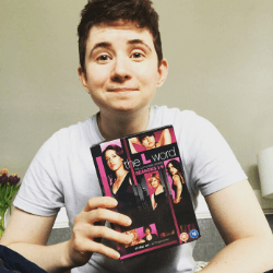 Person holding DVDs