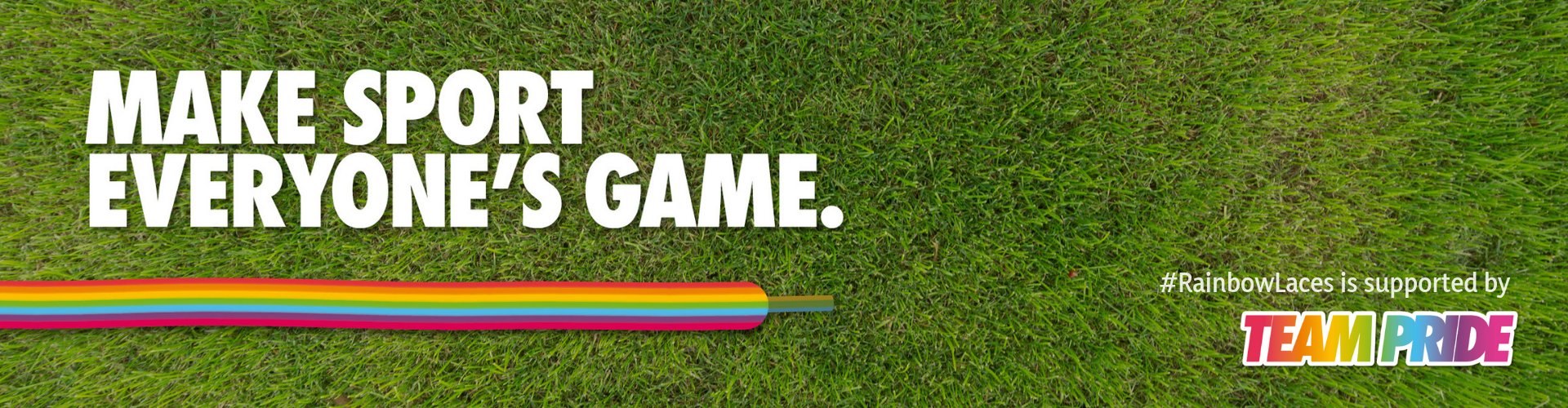 Rainbow Laces banner